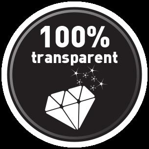 Totalmente transparente