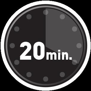 Fijación en solo 20 minutos